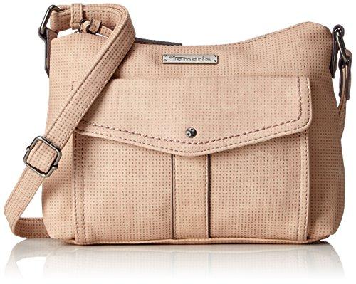 Tamaris Damen Adriana Crossbody Bag S Umhängetasche, Pink (Rose), 5,5x18x24 cm