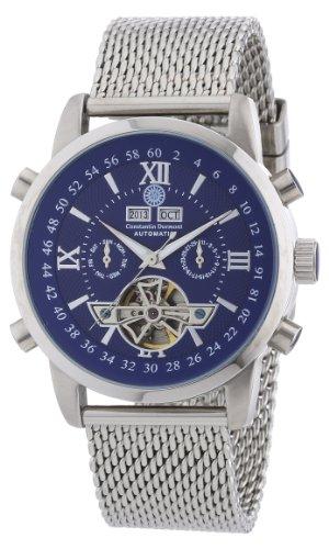 Constantin Durmont CD-CALE-AT-STM2-STST-BL - Reloj analógico para caballero de acero inoxidable azul