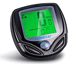Computadora de ciclo, ccbetter Velocímetro de bicicleta Computadora de bicicleta inalámbrica Impermeable LCD Sensor de