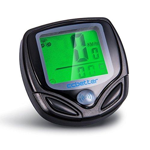 Fahrradcomputer Kabellos, ccbetter Fahrrad Computers Drahtlos Wasserdicht Tachometer Wireless Fahrradtacho Drahtloser für Radsport Realtime Speed Track (Speed Track)