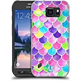 Head Case Designs Watercolour Mermaid Scales Hard Back Case for Samsung Galaxy S6 active