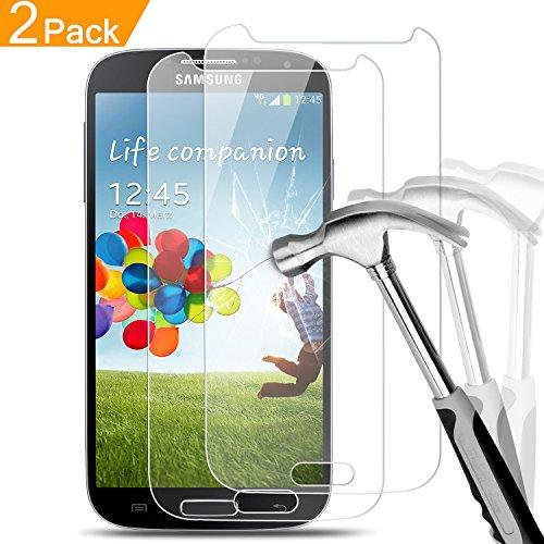 2 x Samsung Galaxy S4 Panzerglas, Melojoy Gehärtetem Glas Hartglas Galaxy S4 Schutzfolie Panzerfolie Folie