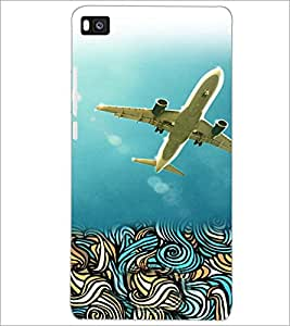 PrintDhaba Aeroplane D-4222 Back Case Cover for HUAWEI P8 (Multi-Coloured)