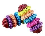 FSOSOO Farbige Ring Gummi Pet Toys Durable Tough Chew Non-Toxic Zahnreinigung Hund Spielzeug 2Pcs