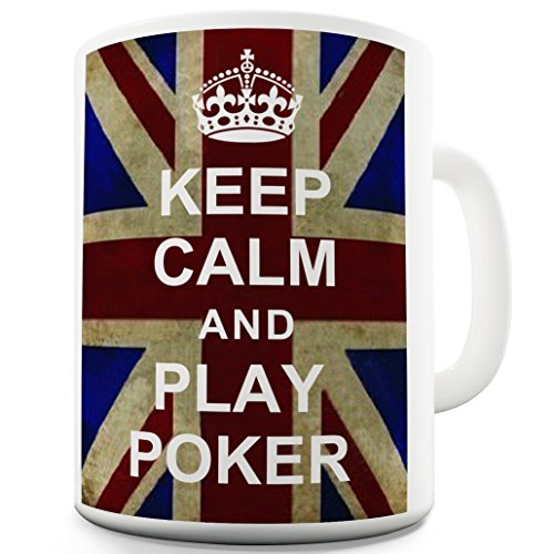 Twisted Envy Play Poker Keep Calm and Carry On in ceramica tazza di caffè