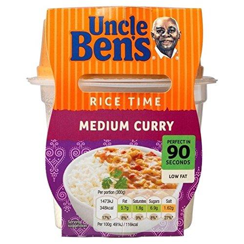 Le Temps Moyen De Riz Au Curry Micro-Ondes Repas Prêt De 300G De L'Oncle Ben - Paquet de 2