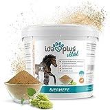 Ida Plus – Reines Bierhefe-Pulver 1,5 kg – Futterergänzung für glänzendes Fell & Haut – reich an B-Vitaminen, Mineralien & Spurenelementen – Naturprodukt für ihre Pferde, Hunde, Katzen & Hühner
