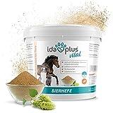 Ida Plus - Reines Bierhefe-Pulver 1,5 kg - Futterergänzung für glänzendes Fell & Haut - reich an B-Vitaminen, Mineralien & Spurenelementen - Naturprodukt für ihre Pferde, Hunde, Katzen & Hühner