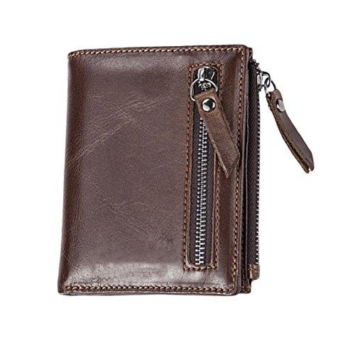 Zhhlaixing Mens Womens Damen Two Fold Slim Mini Wallet Brieftasche Card Case with Zip Coin Pocket Christmas Halloween (Wallet Two Damen Fold)
