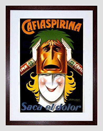 Preisvergleich Produktbild AD MEDICINE ASPIRIN BAYER ARGENTINA WOMAN MASK SMILE FRAMED ART PRINT B12X3173