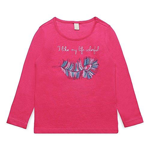 ESPRIT Mädchen Langarmshirt RK10203, Rosa (Tropical Pink 352), 128 (Herstellergröße: 128+)