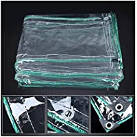 WZNING Tarra impermeable protectora transparente de PVC, toldos resistentes a la resistencia al agua, protección de toldos, paño plegable, tela de lluvia, tela de toldo, película de aislamiento de inv