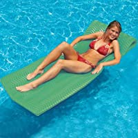"Swim Central 74"" Water Sports Sofskin Kiwi Green Floating Pool Mattress Raft"