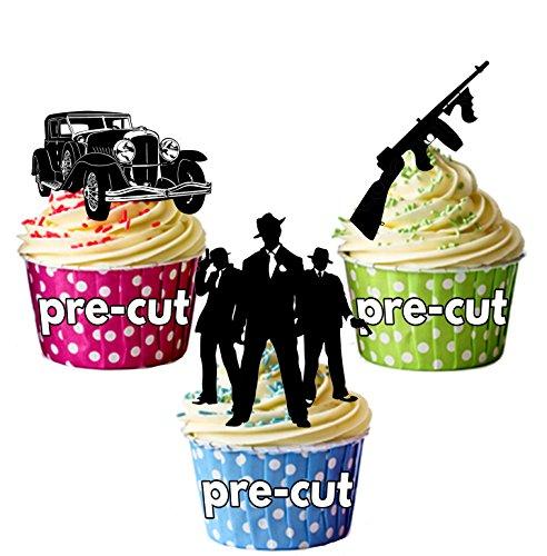 vorgeschnittenen Mob Gangster 19201930–Essbare Cupcake Topper/Kuchen Dekorationen (12Stück) Gta-kuchen