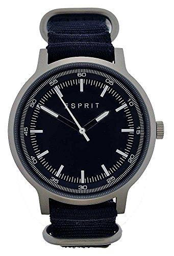 Esprit Hombre Reloj de pulsera analógico cuarzo banda textil negro es108271005