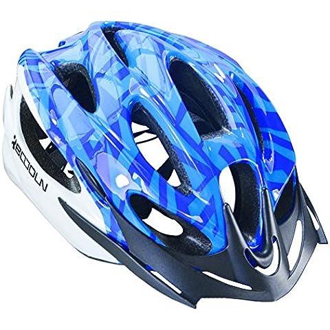 JQY casco da bicicletta Caschi Ciclismo Arrampicata Pattinaggio Skateboarding e sport all'aria aperta respirabile comodo Protezione caschi di sicurezza per uomini e donne (Blu) - Campana Skateboard