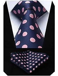 Hisdern Extra Lungo Pois Cravatta Fazzoletto Uomini Cravatta   Fazzoletto 167c6e3222b0