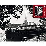 Draeger - Affiche Déco - Photo Noir Et Blanc Quai de la Seine pour décorer Votre intérieur - Poster Bruno de Hogues en Papier satimat 350 g - 24 x 30 cm