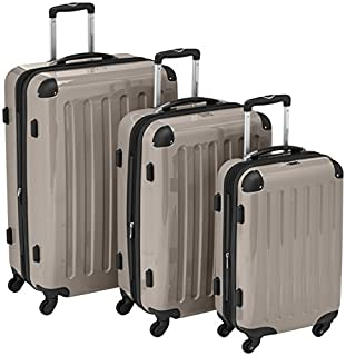 HAUPTSTADTKOFFER - Alex- Set of 3 Hard-side Luggages Trolley Suitces Expandable, (S, M & L), champagne (B007RKNXIW) | Amazon price tracker / tracking, Amazon price history charts, Amazon price watches, Amazon price drop alerts