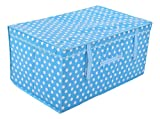 SONA&SONA Polyester Laundry Baskets (60 cm x 40 cm x 30 cm, Blue)