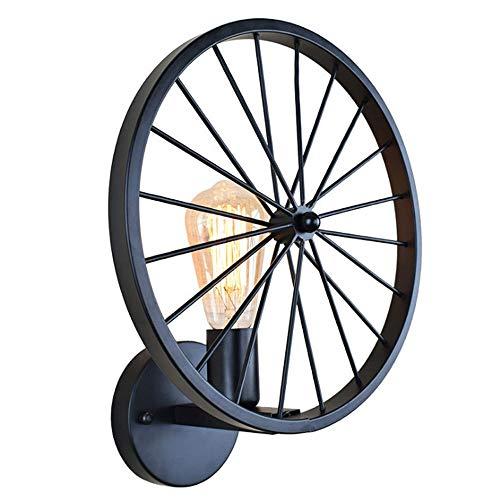 Preisvergleich Produktbild Yanhuoo Retro Industrielles Rad Wandleuchte Retro-Stil Wandleuchter Flur Küche Esszimmer Beleuchtung Werkzeug