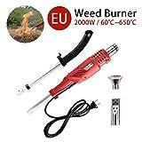 Hete-supply Bruciatore per erbaccia Elettrico 2000W, diserbatore, Stick per diserbo Termico, utensile Elettrico per diserbatrice, Fino a 650 ℃, Attrezzi da Giardino