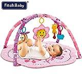 Palestrina Tappeto Gioco per Neonato Fitch Baby In morbido Tessuto Rosa Con Giocattoli e Peluche Pendenti