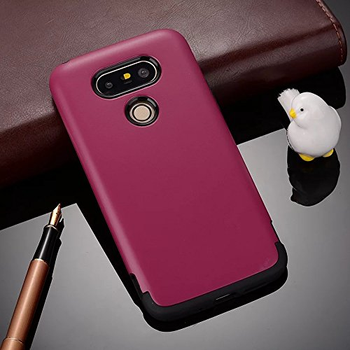 YHUISEN LG G5 Case, 2 In 1 PC + TPU Rüstung Hybrid Dual Layer Schutz Schock Absorption Hard Back Cover Case für LG G5 ( Color : Rose Gold ) Rose