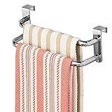 InterDesign Axis porte-serviette, sèche-serviette double barre en métal, argenté