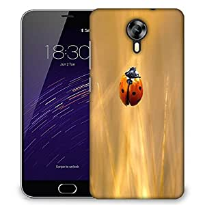 Snoogg Yellow Beatel Designer Protective Phone Back Case Cover For Meizu M2
