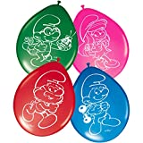 Folat- Ballons Stroumpfs-8 pièces, 65065, Multicolore