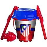 Atletico de Madrid - Atletico De Madrid - Set cubo castillo de 18 cm con pala (Mondo MD-311032) (Mondo 311032)