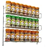 Neo ® 24pc Chrome 3 Étagère Rangement pour Épices Pots pour Mural ou Placard Cuisine