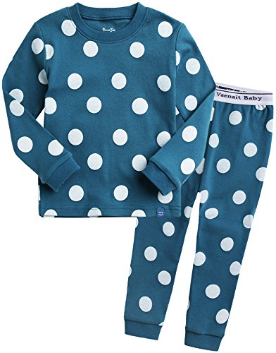 Vaenait Baby 74-122 Kinder Maedchen Bekleidung Langarm zweiteilig Schlafanzug niedlich Candy Bluegreen M