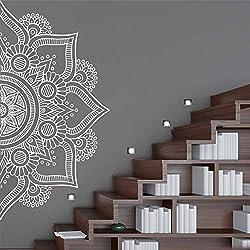 Meditación yoga mandala calcomanía cartel de vinilo removible para los niños sala de estar decoración para el hogar vinilo mural decal-142x70 cm