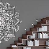 Ajcwhml Meditazione Yoga Mandala Rimovibile Applique per Bambini in Vinile murale Poster Soggiorno Decorazione della casa in Vinile murale Applique