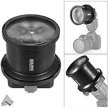 Fomito SGA de Bos 2veces EV Fresnel Snoot flash luz Extender con ca de sgu adaptador para Speed Llight Canon Nikon Sony Yongnuo Neweer Godox Vivitar Flash & 10pcs filtro de color