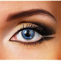 Lenti a contatto colorate Eye Fusion 90giorni senza spessore di Funky Vision Coloured Contact Lenses Big Eyes Dolly Blue 82606