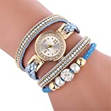 Uhren Damen Quarzuhr Frauen Armbanduhr Luxus Armband Exquisit Uhr Seil Ketten wickelnde Uhr Analoge Bewegungs Armbanduhr Strick Uhrenarmband Watch,ABsoar