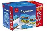 Bormioli Frigoverre - caja de conservas de vidrio transparente, Set de 5
