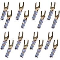16 Conetor Banana de 24K de UCEC, Terminal Cables Conector de Espada Y, Cable Altavoces