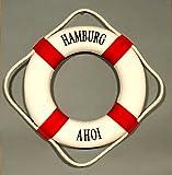 Buddel-Bini Versand Deko Rettungsring rot/weiß Hamburg Ahoi 15cm
