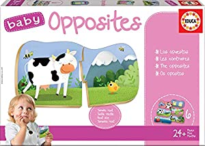 Educa Borrás- Baby Opposites Puzzle, Color Variado (18122)