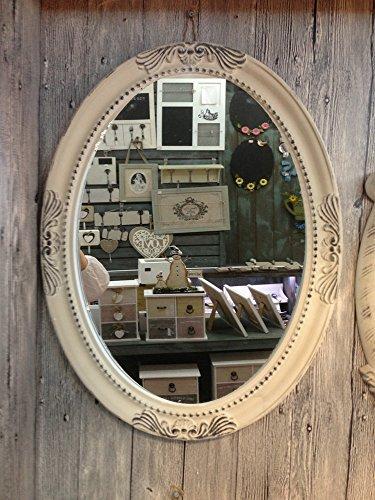 Charmanter Landhaus Holz Wandspiegel 18-1 Spiegel antik Garderobenspiegel Flurspiegel Barock