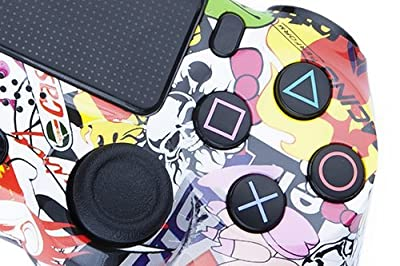 Playstation 4 Custom Controller - Stickerbomb