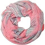 ManuMar Loop-Schal für Damen   Hals-Tuch mit Papagei Indianer Feder-Motiv als perfektes Sommer-Accessoire   Schlauch-Schal - Das ideale Geschenk für Frauen