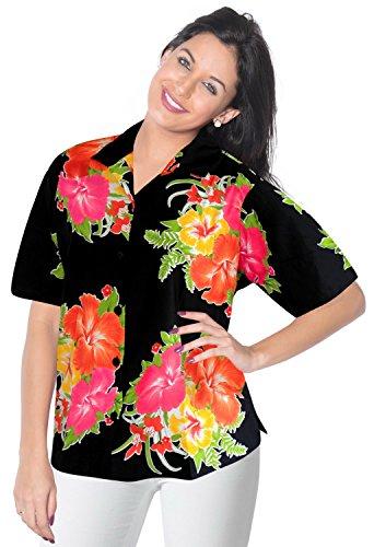 hawaiische Geschenk Frauen Shirt-Kleid mit kurzen ?rmeln verschleiern Bluse obere Taste nach unten l Damen -