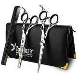 Candure 6' Set Forbici Professionali da Parrucchiere Barbiere - forbici parrucchiere acciaio - Astuccio Incluso