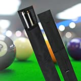 Snooker Pool Billard Queue Tasche Koffer Köcher, Nylon Pool Queue Billard Stick Lagerung Tragetasche 1/2 3/4 Größe schwarz(1/2 Art)