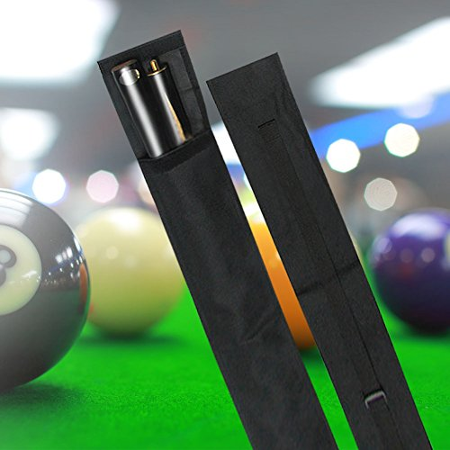 Snooker Pool Billard Queue Tasche Koffer Köcher, Nylon Pool Queue Billard Stick Lagerung Tragetasche 1/2 3/4 Größe schwarz(1/2 Art) -